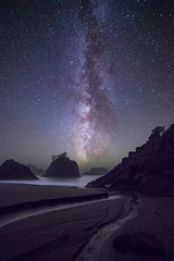 Celestial Flow (matthewnewmanphotography) Tags: ocean longexposure nightphotography oregon stars nightscape pacific secretbeach wanderlust nightsky universe milkyway oregonexplored travelstoke
