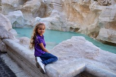 Violet On The Trevi Fountain (Joe Shlabotnik) Tags: italy rome roma fountain italia violet trevifountain faved 2016 afsdxvrzoomnikkor18105mmf3556ged justviolet march2016