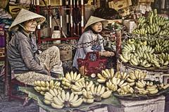 Bananas Bananas... (Artypixall) Tags: women market vietnam hoian bananas getty desaturated fruitstand faa vendors