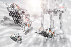 Courage (Ken Pearson) Tags: star back walker empire imperial wars strikes atat hoth snowspeeder t47