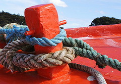 Red (patrick_milan) Tags: red sea mer rouge boat brittany ship bretagne bateau finistre iroise portsall