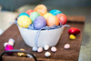 Colored Easter Eggs In A Bowl (Transient Eternal) Tags: pink blue orange holiday grass yellow easter spring candy background sugar celebration eggs sweets decorate decorated hardboiled holyweek gettogetherchildren