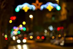 Dancing with light (Slawek A7) Tags: city night bokeh