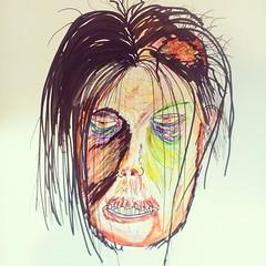 Garish #zombie #zombieart #nomakeupselfie #undead #crayola... (nathanrobinson2) Tags: zombie undead crayons crayola colouringin deadgirl zombieart uploaded:by=flickstagram nomakeupselfie instagram:photo=1098478519666868858184137303