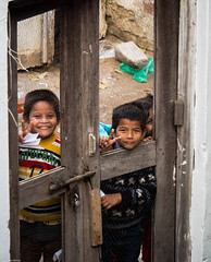 Kids (indleaf) Tags: street door winter india kids cool sunny refreshing