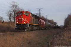 9680 (ontario photo connection) Tags: railroad ontario canada cn train railway rails locomotive locomotives markham railroads canadiannationalrailway yorkregion