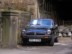 MGB  GT (Lawrence Peregrine-Trousers) Tags: street black car rubber mg spots bumper gt 1980 mgb ffffffffff autoshite