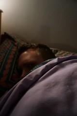 I forgot to take a photo until bedtime. (sflangridge) Tags: selfportrait me sleep aphotoaday