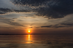 sunset (jojoannabanana) Tags: light sunset sun sunlight water clouds cloudy dramatic boating dreamy lakeontario goldenhour