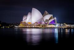 Sydney Opera House (Davidcook9050) Tags: ocean city longexposure travel blue light sky holiday travelling water night long exposure sydney australia flickrtravelaward