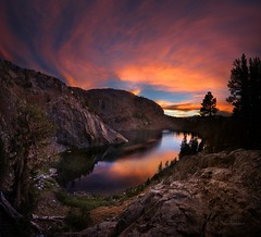 Ruby Lake Sunset - John Muir Trail (Bruce Lemons) Tags: california sunset lake mountains hiking hike sierra backpacking wilderness sierranevada jmt anseladamswilderness rubylake johnmuirtrail