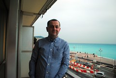 Me by the sea (zawtowers) Tags: sea vacation holiday france french hotel nice riviera break view balcony room superior cte des promenade april mercure dazur anglais 2016