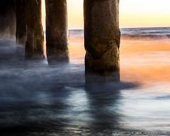 Warm Pier (Jeff Skott) Tags: ocean california sunset beach pier dusk august pacificocean manhattanbeach 2015 shootingproperties