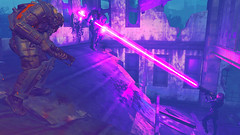 546 (Beth Amphetamines) Tags: pink wallpaper building for outfit screenshot mix pretty power purple colleen rifle super beam armor laser strong brunette derelict blast lazer mutants courser fallout4 tumbajumba
