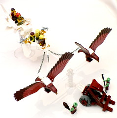 ESR complete 2 (Jeddy and Daddy) Tags: lego eagle battle elf eagles ballista orcs greenskin armies legoideas highelf fantasyera castletheme skychariot castleera skyreamer