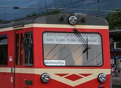 0031_2005_06_23_sterreich_Jenbach_Zillertalbahn_Motto (ruhrpott.sprinter) Tags: railroad 3 train germany logo deutschland austria tirol sterreich diesel outdoor d no 14 eisenbahn rail zug 11 db cargo nrw 111 passenger 12 alpen 13 fret ruhrgebiet freight vt locomotives kessel zillertal dampflok lokomotive lok sprinter ruhrpott gter sonderzug lokschuppen svarowski schmalspur 4780 reisezug zillertalbahn drehgestelle ellok kohlebansen rollbock schwerlastwagen