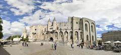 Une certaine vision du palais des papes, Avignon (maxguitare1) Tags: panorama france nikon palace palais chateau avignon castello palaisdespapes castel palacio panoramique vaucluse palazzio nikond90