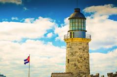 Libertad Cubana (Nitramib) Tags: travel clouds libertad freedom flag cuba nubes bandera cuban elmorro 2014