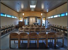 DSC01129  -  Gottingen,  Krankenhaus Weende,  Theodor-Zockler-Kapelle_bearbeitet-1 (Max-Friedrich) Tags: hospital altar architektur gttingen krankenhaus orgel kapelle leicam8 gttingen ilce7rm2