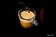 Gota de caf (adrivallekas) Tags: light hot glass coffee caf canon luces cafe flash gotas homemade espresso athome moment gota sombras vaso instante nespresso cafetera hechoencasa canonef24105mmf4lisusm cafsolo canoneos6d