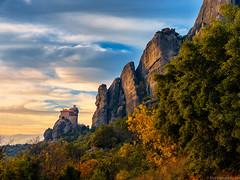 """Suspended in the Sky""  Meteora, Greece (Mark Iandolo) Tags: travel sunset mountains church landscape europe sony unesco wanderlust explore greece monastery meteora rx1"