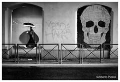 Skull (alberto pizzoli) Tags: street city people urban blackandwhite italy rome cityscape urbandecay citylife streetphotography urbanexploration ita streetphoto urbanscene