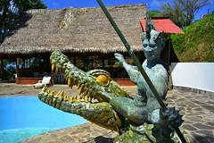 (orientalizing) Tags: peru pool amazonbasin jungleart ahuashiyacu sanmartinprovince crocodilewarrior tarapotodistrict