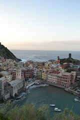 Vernazza morning (daleboettcher) Tags: morning italy water landscape coast seaside outdoor shore terre vernazza cinque