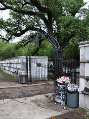 New Orleans - Full Cans At Lafayette (Drriss & Marrionn) Tags: usa cemetery grave graveyard concrete garbage outdoor neworleans headstone tomb graves bin funeral mausoleum granite sarcophagus burial marble tombs lafayettecemetery deceased gravefield vaults crypts neworleansla