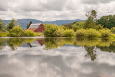 Bond Butte Pond 529 (martinjones1946) Tags: reflection clouds oregon barn rural reflections landscape spring redbarn oldbarn linncounty martinjones platinumheartaward bondbuttepond bondbutte