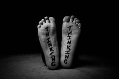 1/52 - Thinking On Your Feet (Forty-9) Tags: blackandwhite feet monochrome writing canon wednesday studio mono january indoor week1 thinking lightroom 152 playonwords 2016 efs1022mmf3545usm strobist efslens strobism project52 thinkingonyourfeet speedlite430exii eos60d 6thjanuary2016 06012016 522016 project522016