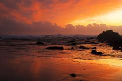 Colour Splash (cupitt1) Tags: ocean water sunrise dawn seaside pacific nimbus horizon australia breakers ochre swell stormcloud sunup pounding cumulo rockshelf wavessurf