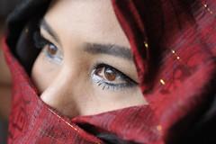 Eyes (SLpixeLS) Tags: portrait woman eye girl look scarf femme oeil yeux thai foulard braun fille brun regard platinumheartaward totallythailand