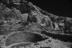 ChacoCanyon_1994-312-3 (sara97) Tags: blackandwhite bw newmexico analog blackwhite 1997 analogphotography nikonf3 kodakhie infraredfilm photobysaraannefinke chacoculturhistoricpark kodakhighspeedinfraredfimm