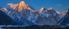 Sunset Over Gasherbrum, Goro II, K2 Base Camp Trek, Central Karakoram National Park, Gilgit-Baltistan, Pakistan (Feng Wei Photography) Tags: travel pakistan sunset panorama mountain horizontal landscape outdoors asia dusk karakoram kashmir pk colorimage snowypeak karakoramrange gasherbrum goroii indiansubcontinent baltoroglacier gasherbrumv gilgitbaltistan remoteposition gasherbrumvii centralkarakoramnationalpark
