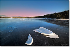Patches (Spence D) Tags: winter lake snow ice newfoundland pond patches