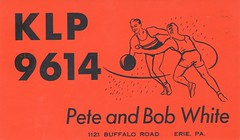 Pete and Bob White - Erie, Pennsylvania (73sand88s) Tags: sports basketball vintage pennsylvania qsl erie cb cbradio