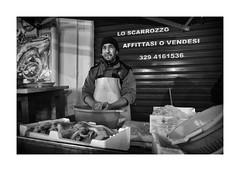 Cleaning fishes / Ballar Market / Palermo Sicilia (jyotichandra) Tags: portrait blackandwhite monochrome monocromo market sicily palermo sicilia ballar sonya6000 samyang12mm