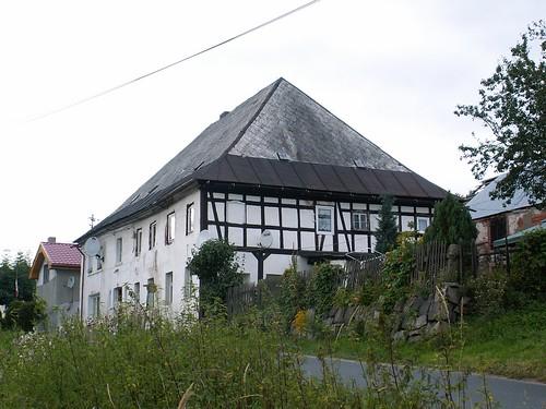 Budynek szachulcowy w Wojcieszycach