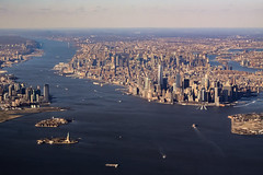 The Big Apple (robertdownie) Tags: new york city nyc usa statue skyline america skyscraper river liberty island cityscape manhattan air united aerial highrise hudson states