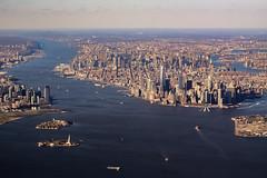 The Big Apple (robertdownie) Tags: new york city nyc usa statue skyline america skyscraper river liberty island cityscape manhattan air united aerial highrise hudson states
