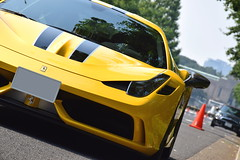 Ferrari 458 Speciale (Andr.32) Tags: italy cars car yellow japan photography tokyo super ferrari exotic    ginkgobiloba aoyama  supercar v8 speciale supercars pininfarina sportcar  carspotting  sportcars 458 meijijingugaien 458speciale