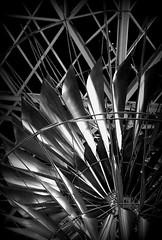 Library Image01 (micron419) Tags: blackandwhite abstract black art texture monochrome metal frames background tubes monchrome monochrone victoriapubliclibrary librarycourtyardartwork