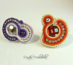 anello soutache perle e cristalli handmade by Martha Mollichella Handmade Jewely (La Casina di Tobia) Tags: by martha handmade pearls ring e rhinestone perle jewely cristalli soutache mollichella