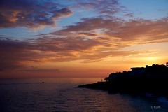 Sunset (Kym.) Tags: sunset sea sky cloud beach walking boat spain walk andalusia nerja andalucia