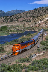 Royal Gorge 402 Parkdale, Co. June 2000 (Vince Hammel Jr) Tags: railroad train trains scanned
