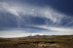 Volcanic desert (Magryciak) Tags: newzealand sky mountain snow clouds landscape outdoors walk hike tongariro ruapehu tramp 2015 polariser