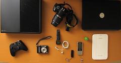 My Gadgets  {E X P L O R E D} (Gaviotita) Tags: camera apple lumix nikon ipod samsung xbox dell usb gadgets android cmara nikond3200 nokia6300 panasonicdmclz8 canonpowershotg10 gaviotita gabygarca xboxone