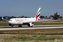 Emirates --- Airbus A330-200 --- A6-EAK (Drinu C) Tags: plane aircraft aviation sony emirates airbus dsc a330 mla a330200 lmml a6eak hx100v adrianciliaphotography