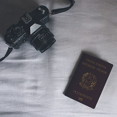 37/366 (abnormalbeauty.) Tags: camera trip stilllife white travelling love analog lens happy bed memories minimal sheet passport pure yashica